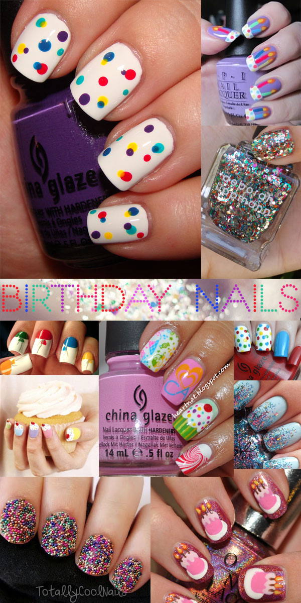 Birthday Nail Art Nailspiration