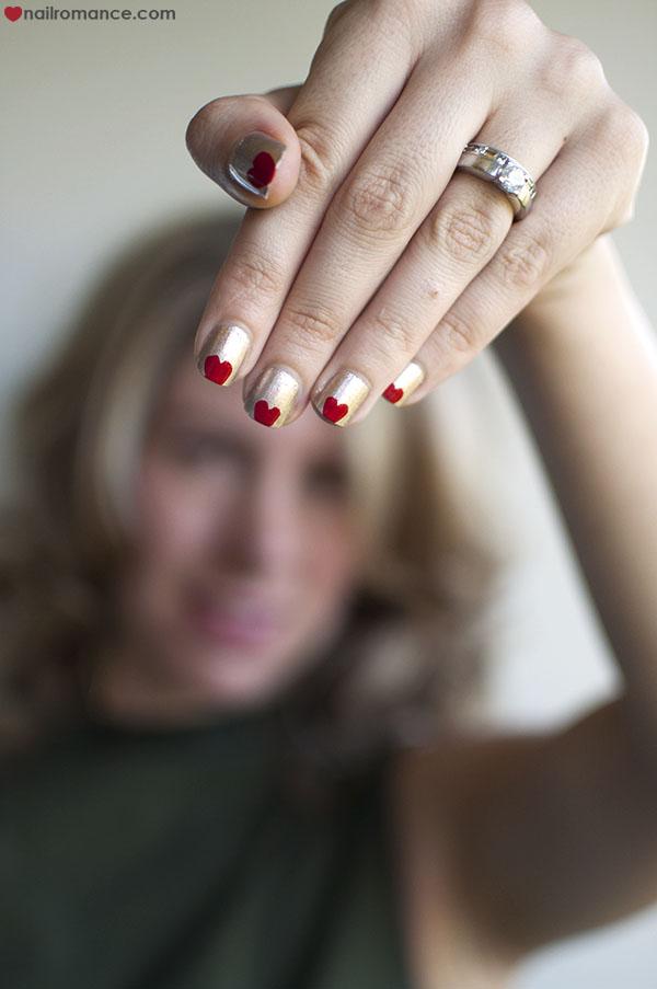 Nail Romance - heart nail art