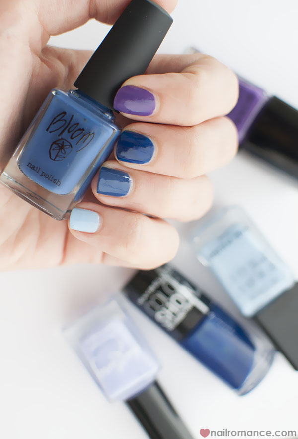 Bloom Navy nail polish - Nail Romance