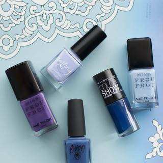 Ombre manicure: Blues and purples