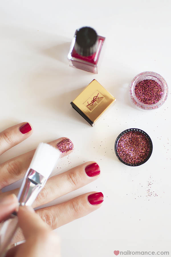 How to 3D glitter nails - Nail Romance