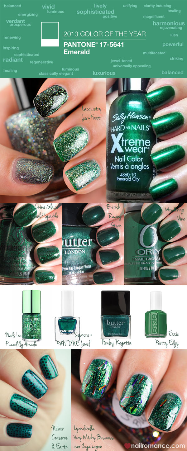 Pantone - Emerald - Color of the year 2013 - Nail Romance
