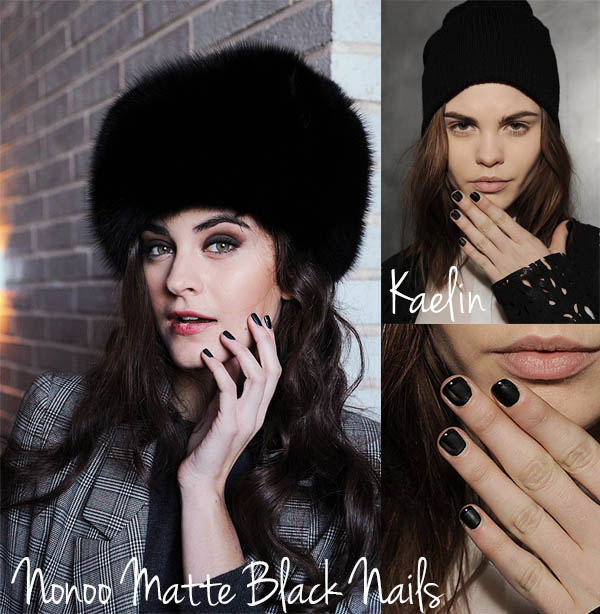 NYFW nail trends to try now - Matte Black Nails