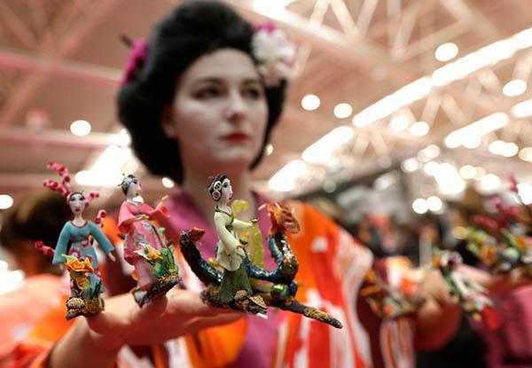 Nail Olympics 2013 - geisha nails