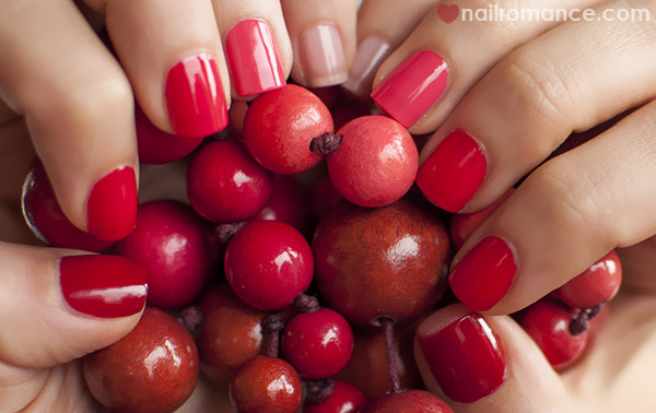 Nail Romance - Essie ombre pink red nails