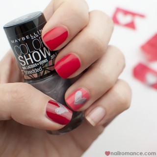 Shredded Heart Nails – Valentine's Day Manicure