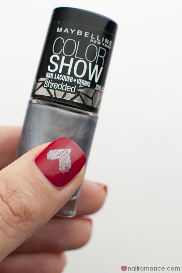 Nail Romance - Shredded Hearts Valentines Day Manicure