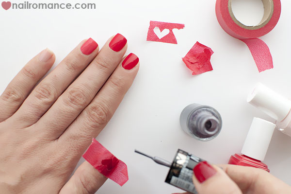 Nail Romance - Shredded Hearts Valentines Day Nails Tutorial