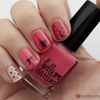 Valentine's Day Nail Art Tutorial – Bows and hearts