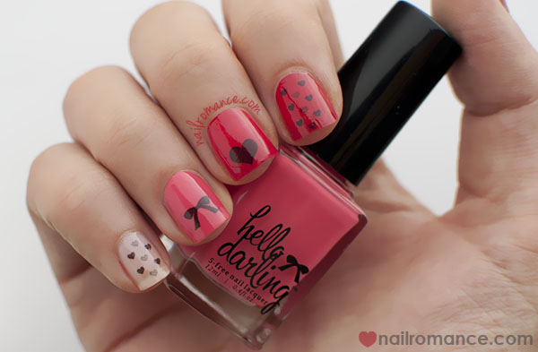 Nail Romance - Valentines Day Mani - Hello darling transfers