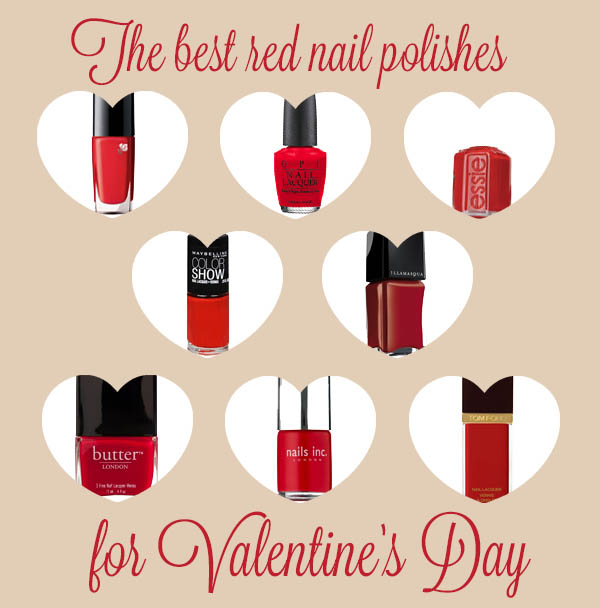 The best red nail polishes for Valentines Day
