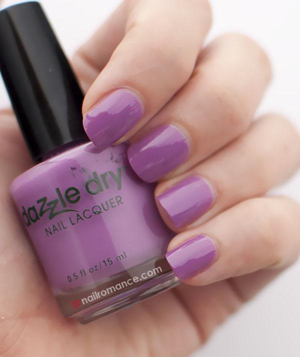 Nail Romance - Dazzle Dry polish in Vive le Violet