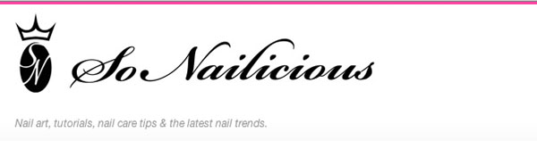 So Nailicious - nail blog header