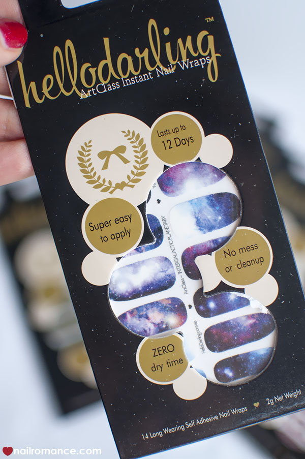 Galaxy nails with Hello Darling Nail wraps