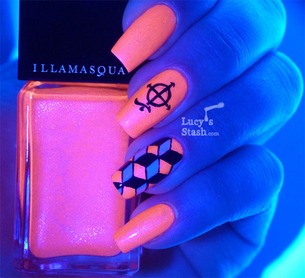 Illamasqua UV polish under black light - Lucys Stash
