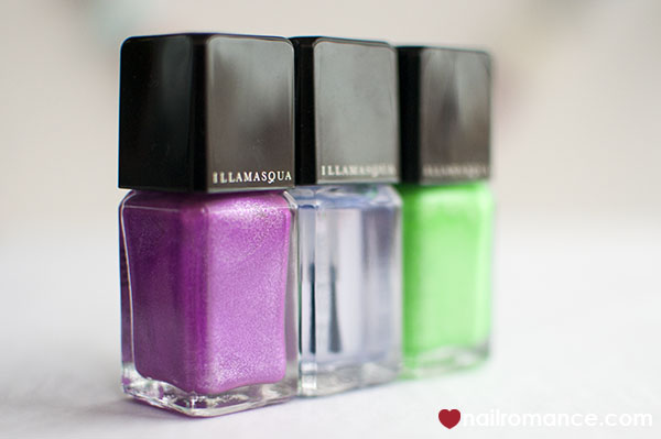 Illamasqua neon ultra violet nail polishes