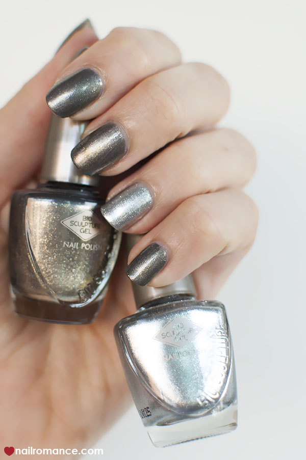Nail Romance - Bio Sculpture metallic nails