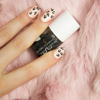 The easiest leopard print nails ever