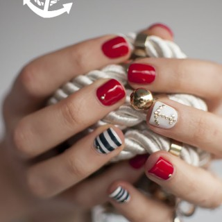 Ahoy Sailor – Nautical Nail Art by Bio Sculpture