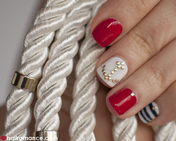 Nail Romance - nautical nail art Sailor nails
